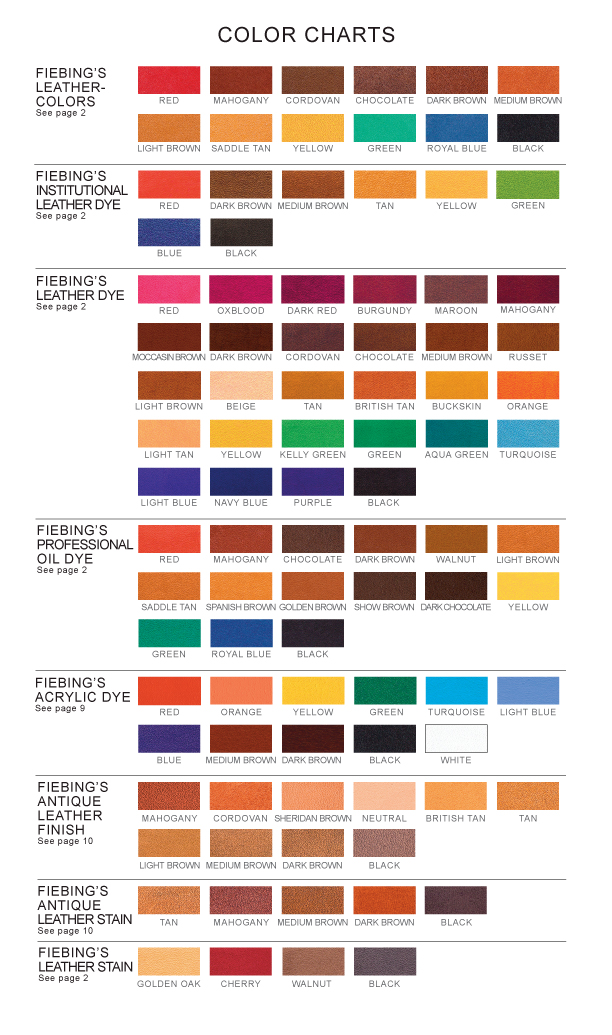 Shoe Pants Color Chart Rebellions